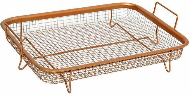 coated wire mesh pan